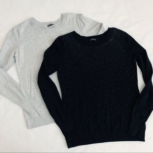 Bundle of 2 Express Sparkly Sweaters